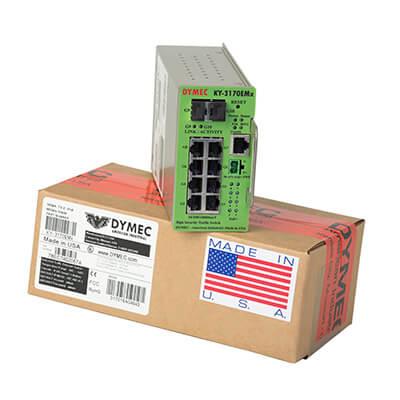 dymec product on shipping box