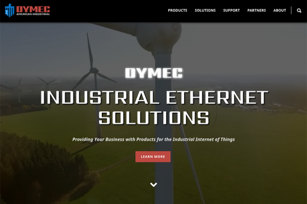 Dymec Website Screenshot