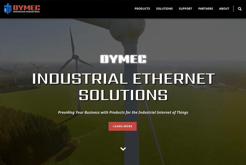 Dymec Website Screenshot
