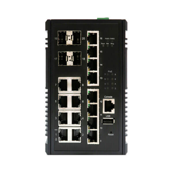 KY CPG1604 20 port layer 3 industrial ethernet switch