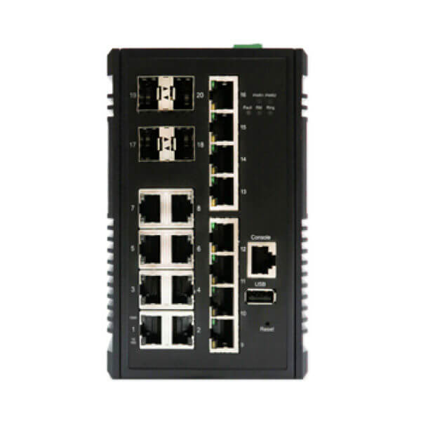 KY CSG1604 temperature hardened ethernet switch