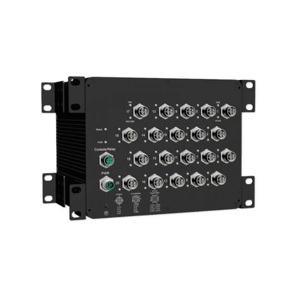MS 1604X M12 managed power over ethernet switch