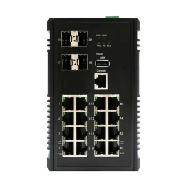 ky cp1604xb 20 port poe switch by dymec