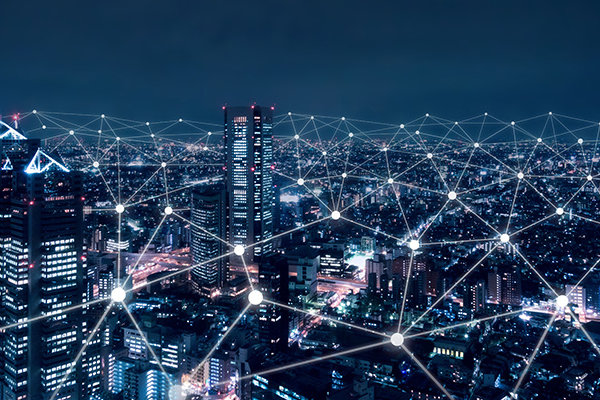 industrial internet of things cityscape